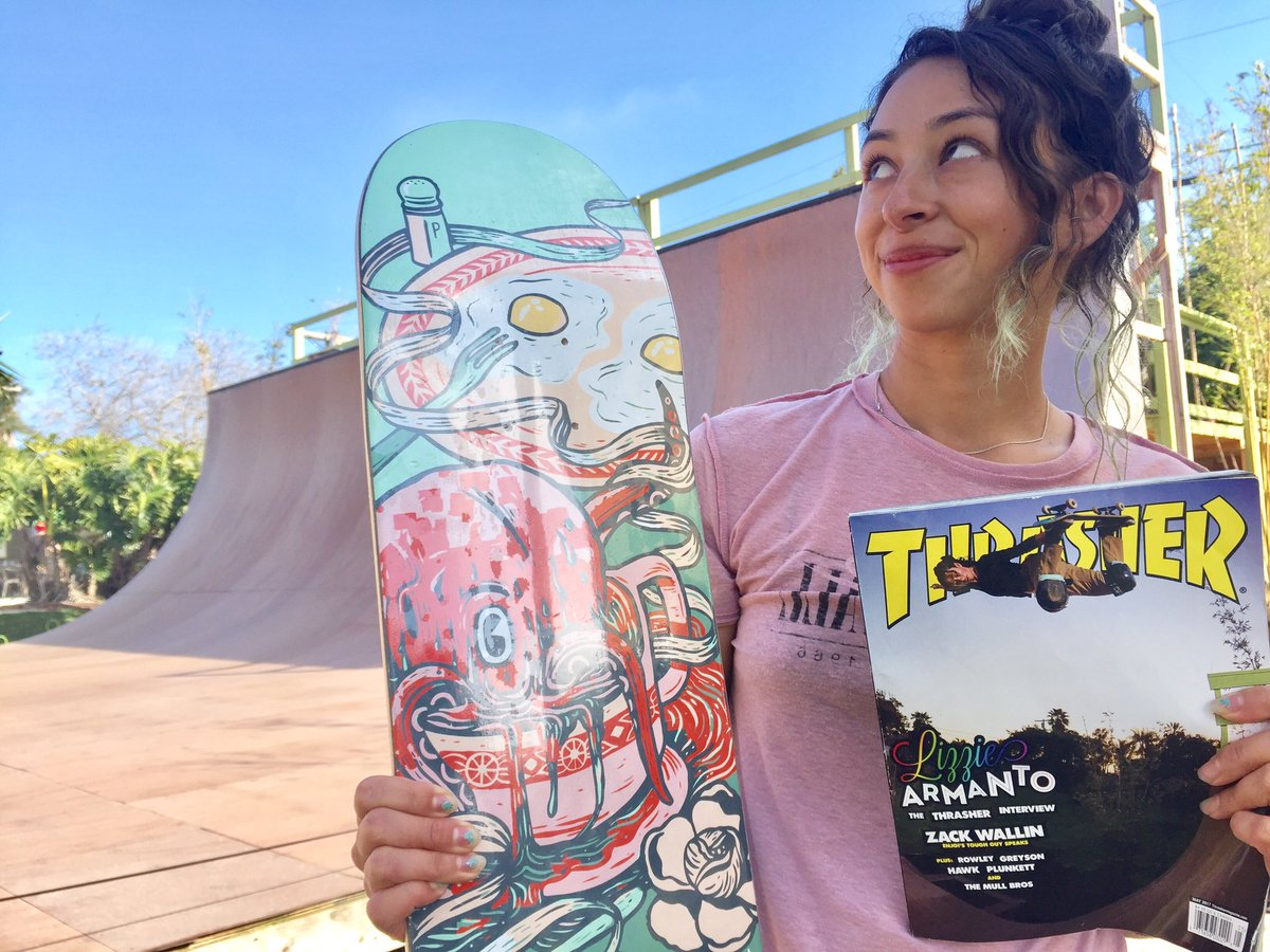 Some people dream of being the president or winning an oscar. Here's two of my dreams. @thrashermag ❤️️