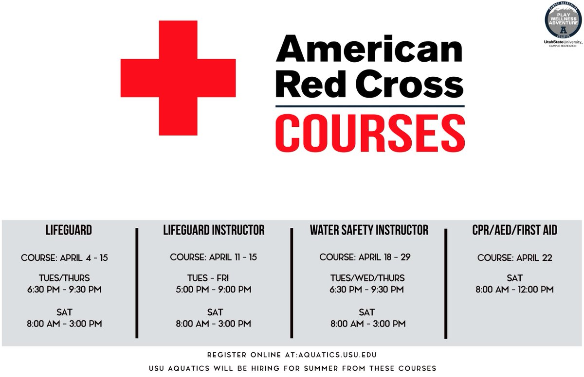 Ususa On Twitter Usu Campus Recreation Is Offering American Red