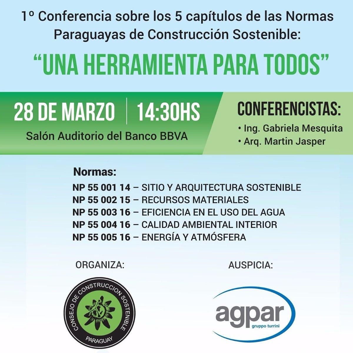 ¡Charla imperdible! #construccion #sostenible #Paraguay #agpar https://t.co/ySwA9K8JaK