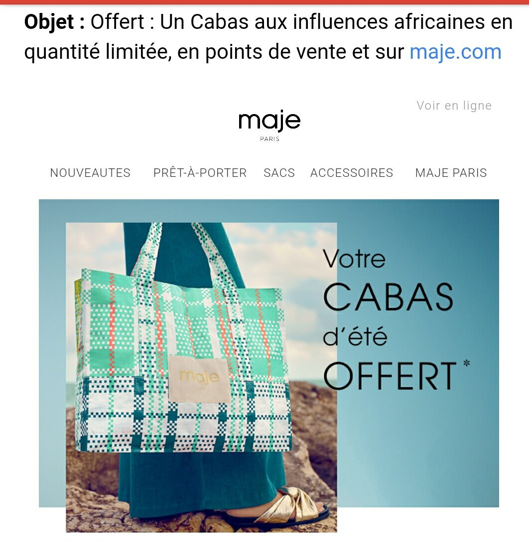 #maje cabas &quot;aux influences africaines&quot;  Quelle bonne blague lool <br>http://pic.twitter.com/g0OmPhxV02