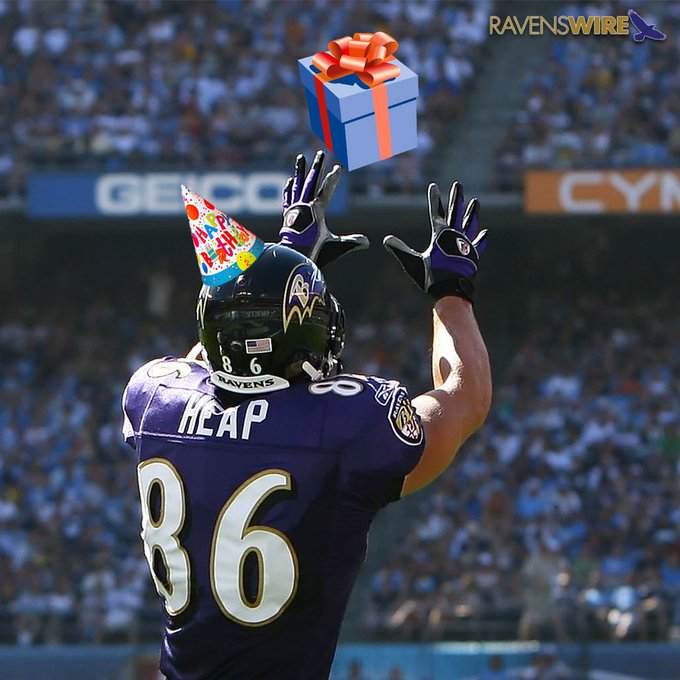 Happy Birthday to former Todd Heap!    MORE: