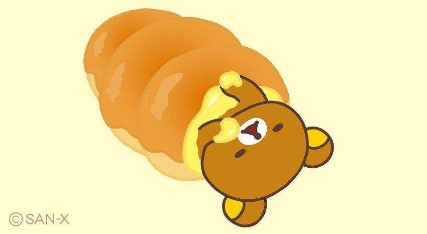 コロネでごろね②  リラックマ〜 クリーム食べすぎですよ?  #リラックマベーカリー #順次発売中 san-x.co.jp/rilakkuma/camp…