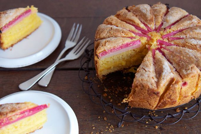 Rhubarb Custard Tea Cake – Eat, Little Bird