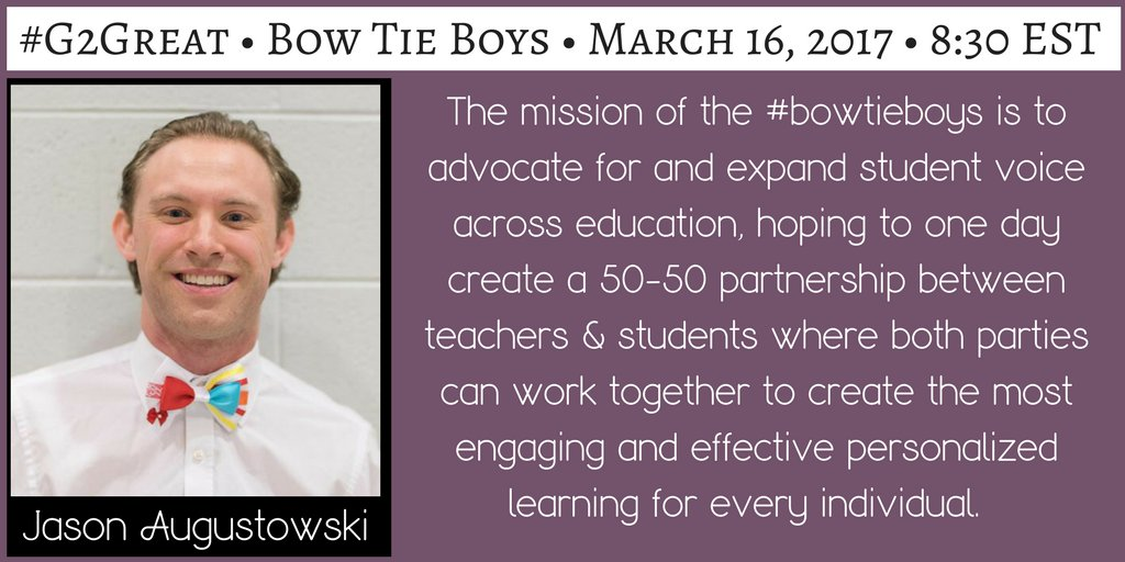 Get ready for #G2Great by following amazing #BowTieBoys @dawsonunger @rbeaver05  @ryanhur09 @kellenpluntke @seanpettit9 @spencerrhill99 https://t.co/SBb6kPvXYY