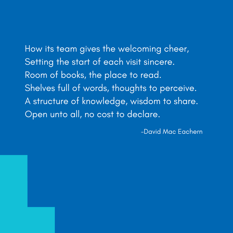 #MyLibrary is... this poem by #AlderneyGate Library-goer David. https://t.co/EhB2WOAreY
