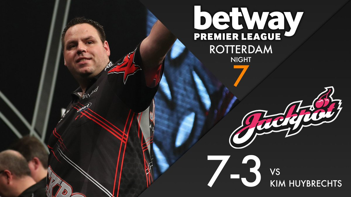 WINNER! Adrian Lewis comes from behind to beat Kim Huybrechts 7-3. A v...