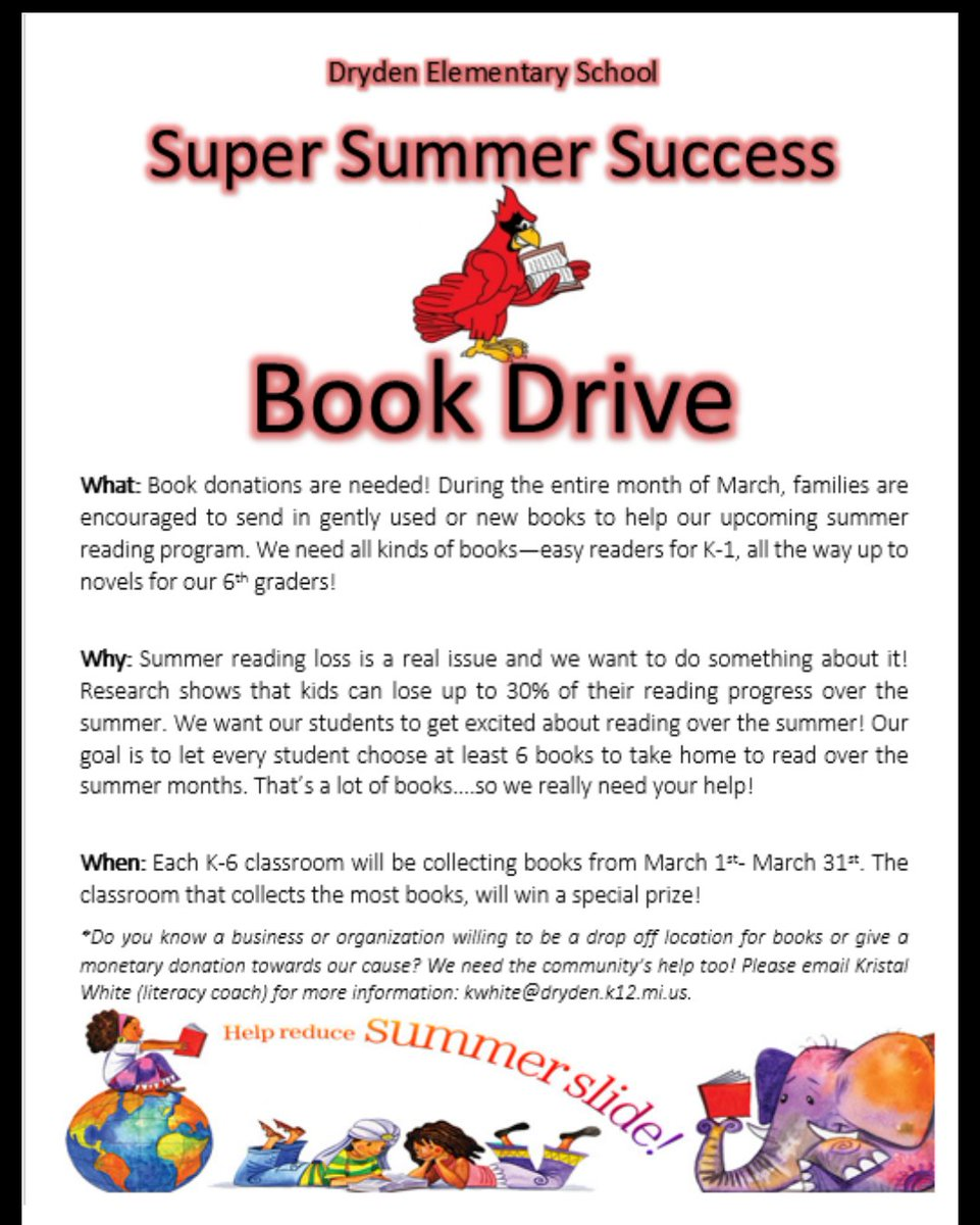 dryden schools on twitter do you have any unused elementary age dryden schools on twitter do you have any unused elementary age books at home please consider donating them to our book drive t co bdr7dcjzbz