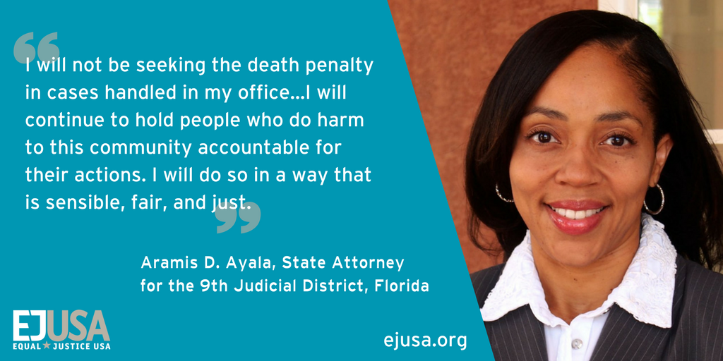NHCSL is proud of DA @DonellAyalaEsq stance against the #deathpenalty! #Orlando #ProsecutorIntegrity #CJReform https://t.co/Ju4HAlWuPI