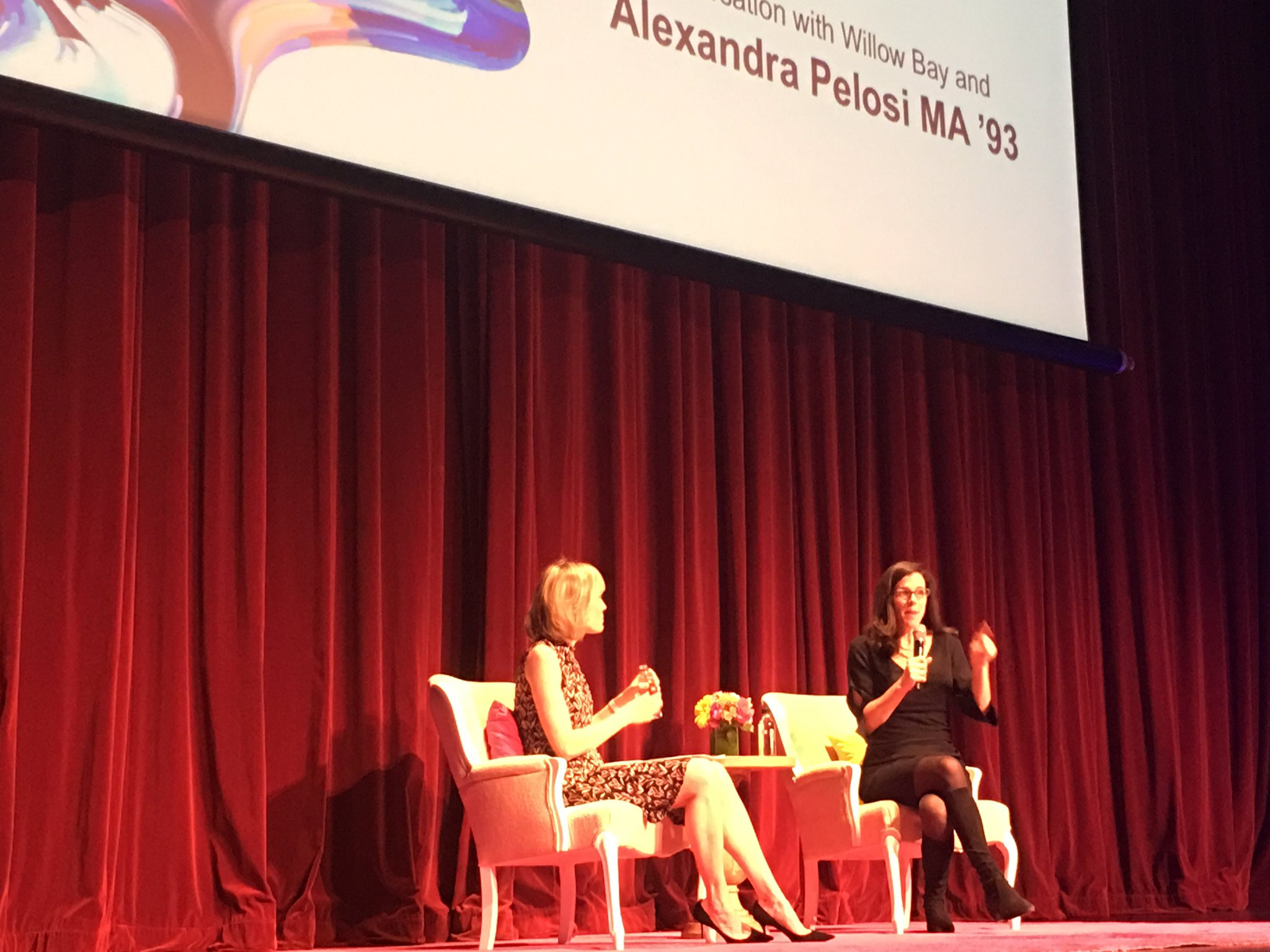 Amazing, funny, and inspiring moment with #alexandrapelosi at the USC Women's Conference #uscwc https://t.co/fK0unvXfvE