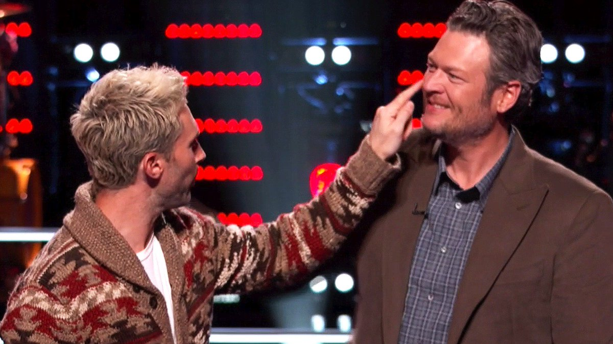 Blake puts some money in the swear jar this week. #TheVoice https://t....