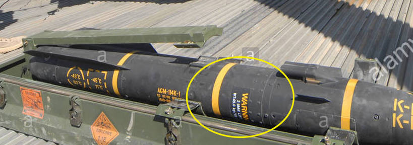 Note Note That Agm 114 Hellfire Missiles Use The Same