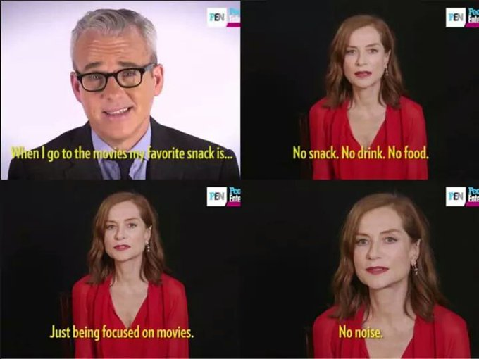 Isabelle Huppert gets it. Happy Birthday to her.