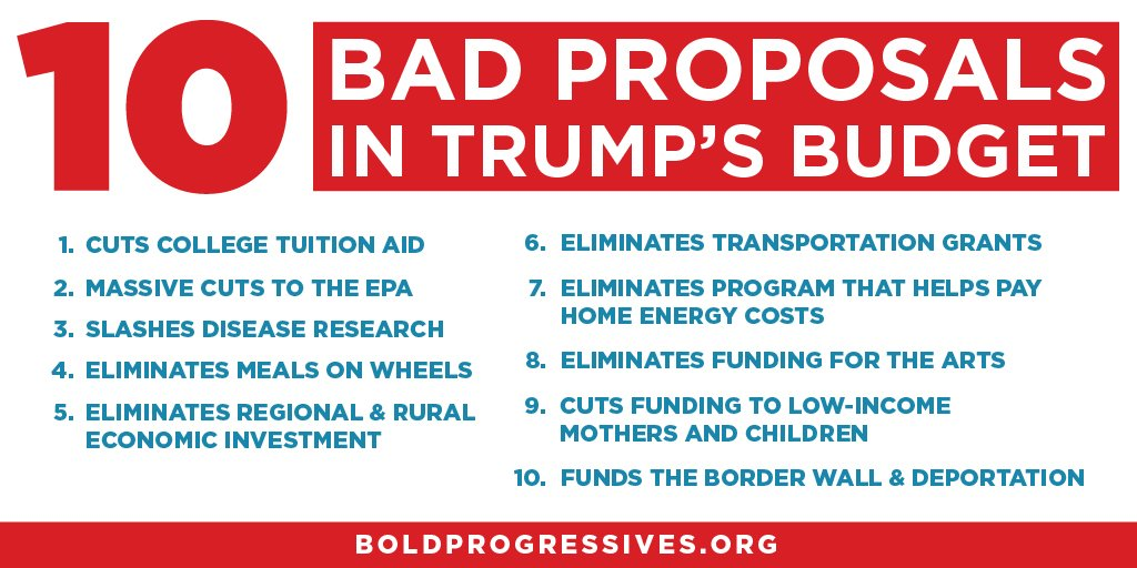 Budgets are moral documents, and @realDonaldTrump's is a moral failure. https://t.co/MVgLm2xXG1
