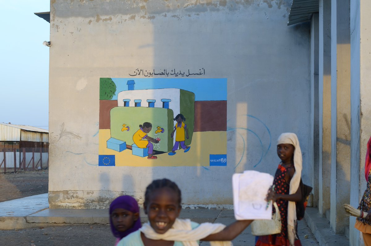 Unicef Education On Twitter A Colorful Wall Painting In A School