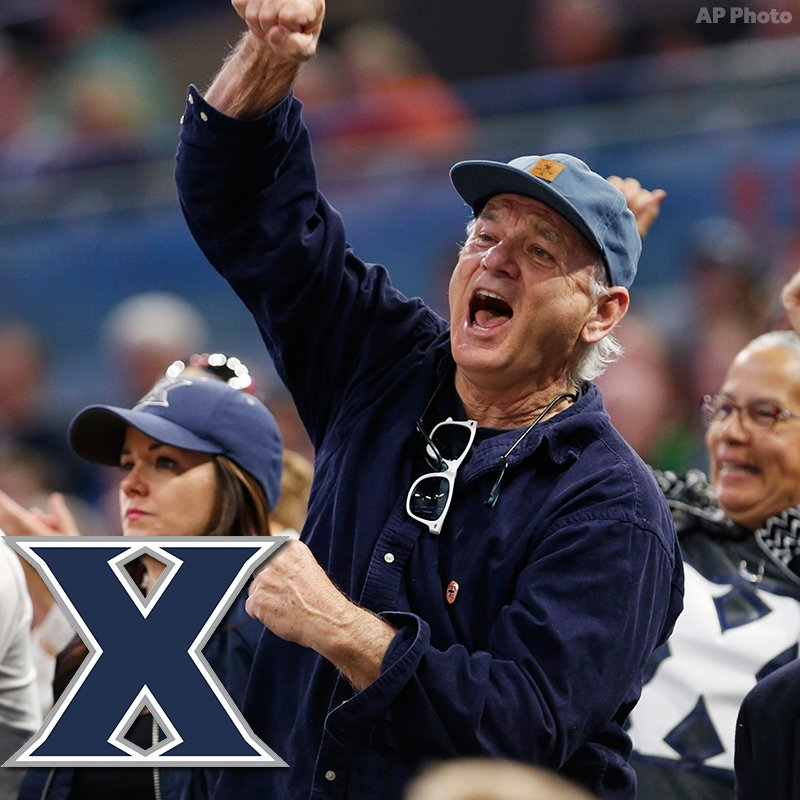 RT if you are as excited as #BillMurray that @XavierMBB won tonight!