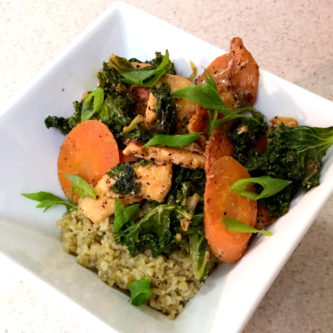 Blue apron miso butter chicken