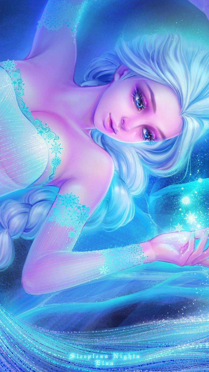 Bozai 夜眠れぬ姫たちシリーズがスマホ壁紙になりました アラジン ジャスミン姫 雪の女王 エルサ 人魚姫 アリエル 無料スマホ壁紙