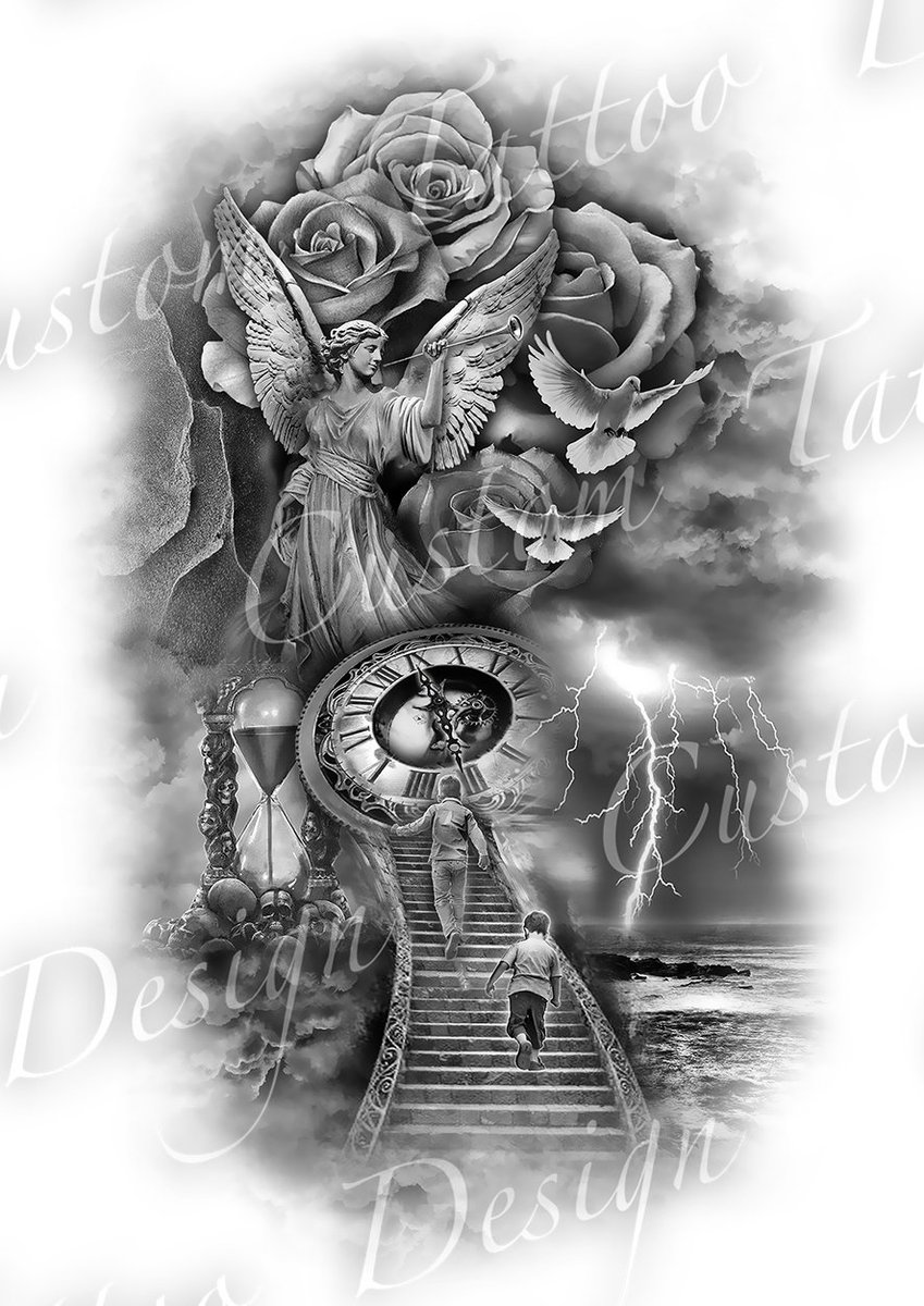 Customtattoodesigns customtattoos twitter for Full custom tattoo