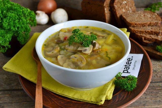 Грибной суп с маслятами рецепт