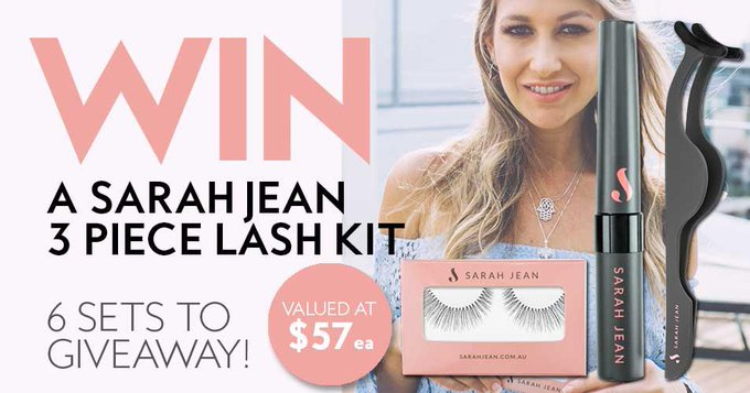 Win a Sarah Jean 3 Piece Lash Kit