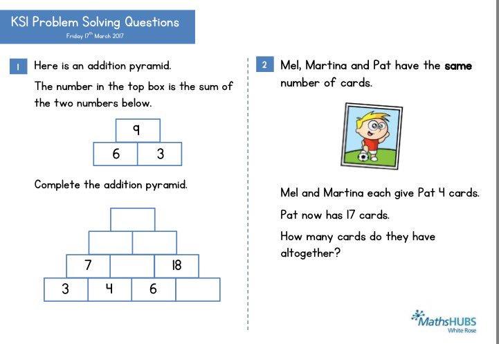 ks1 maths problem solving