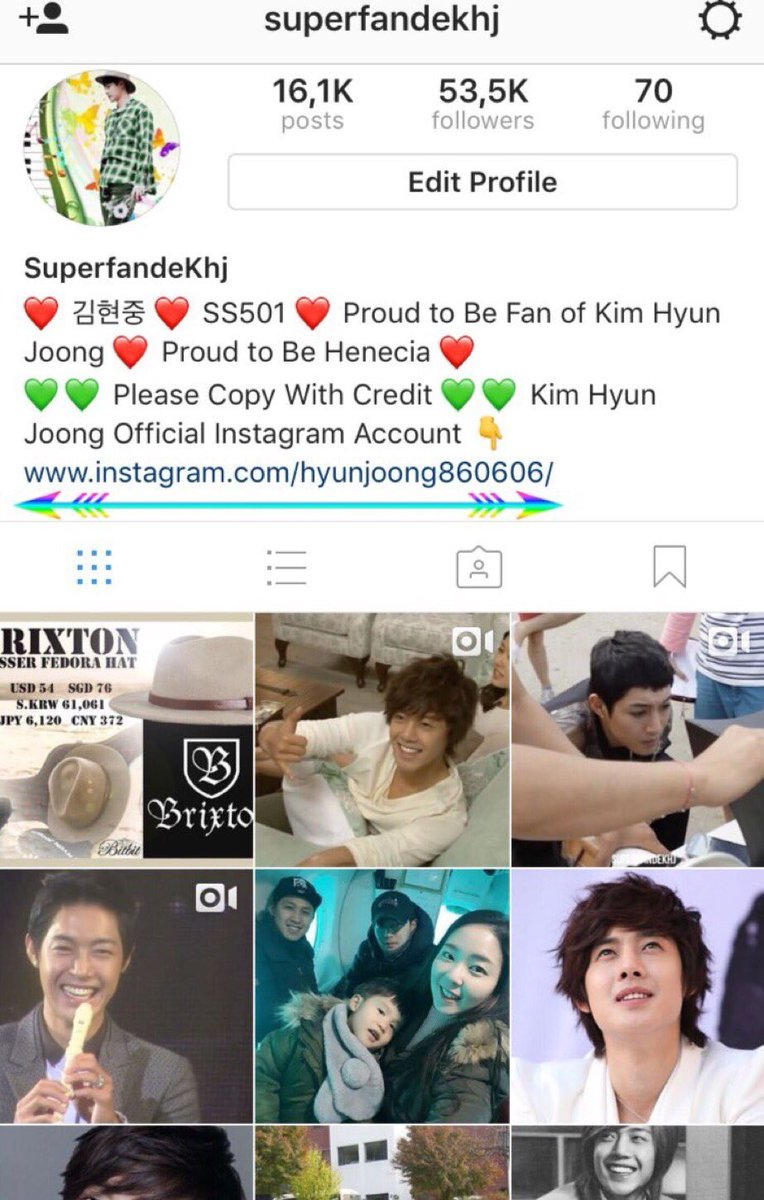 Toujours henecia on twitter the steps to add the link for kim toujours henecia on twitter the steps to add the link for kim hyun joongs official account to your bio instagram ccuart Choice Image