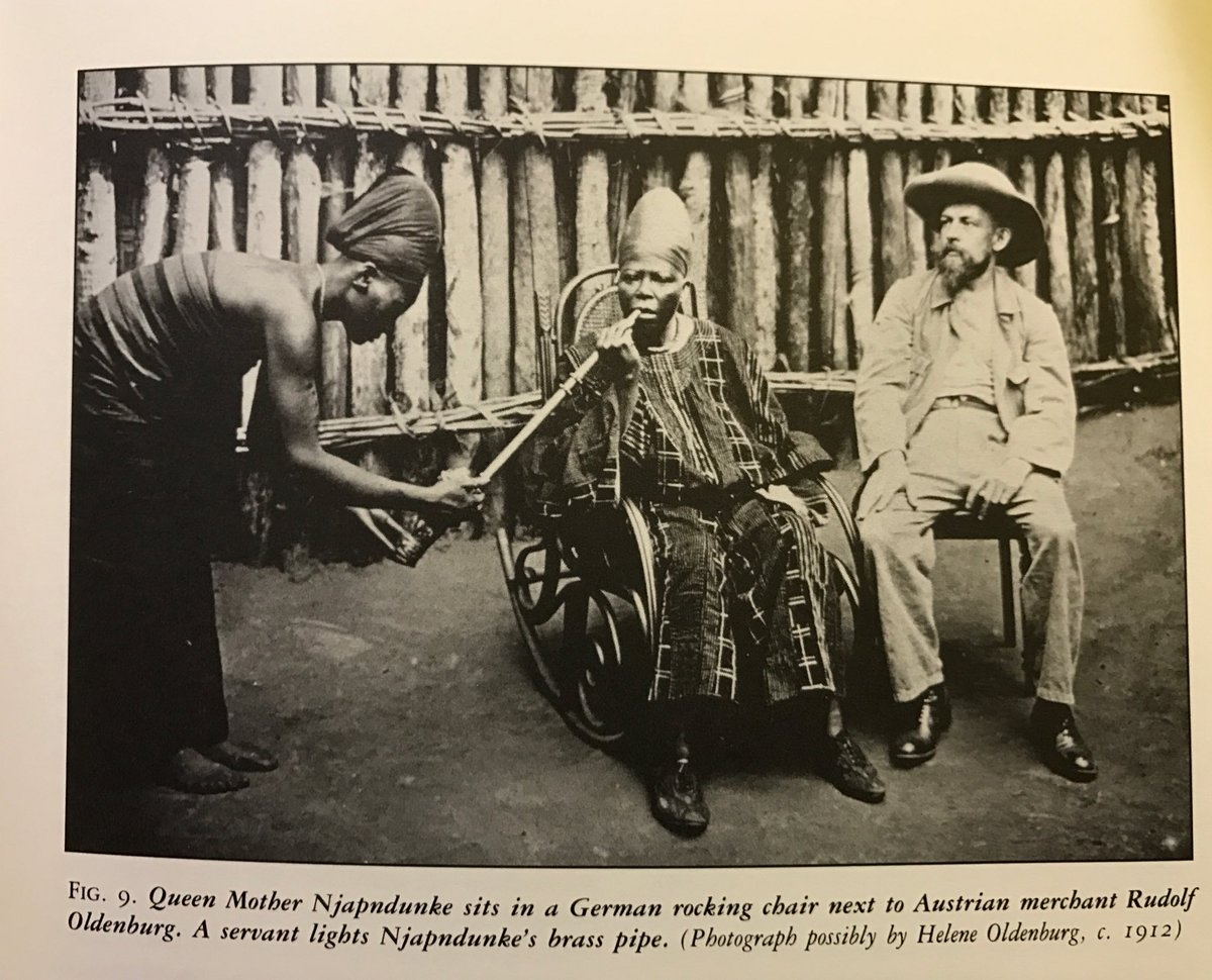 """HistoireDuCameroun🇨🇲 على تويتر: """"1902-1915:#ImagesFromBamum is a rare  book about German Colonial photography at the court of #SultanNjoya.Here  Njapndunke, the Queen mother.… https://t.co/2AMJUrVfQW"""""""