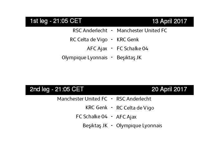 Jadwal Pertandingan 8 Besar Liga Eropa