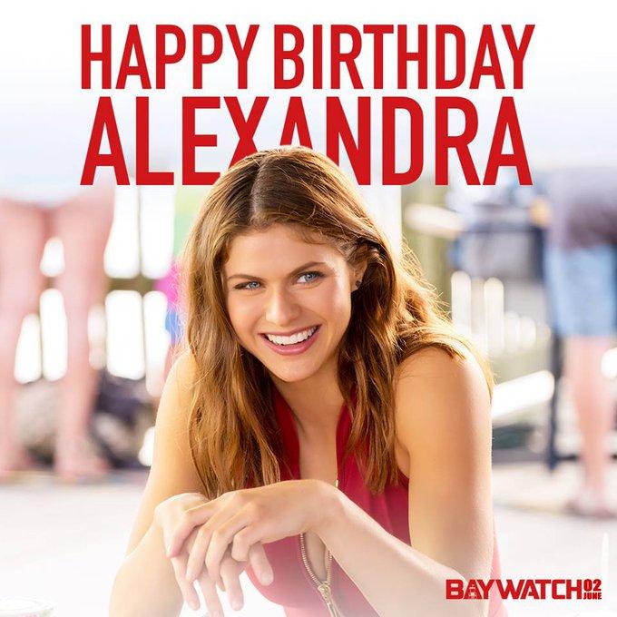 Raise your buoy and help us wish Alexandra Daddario a happy birthday.