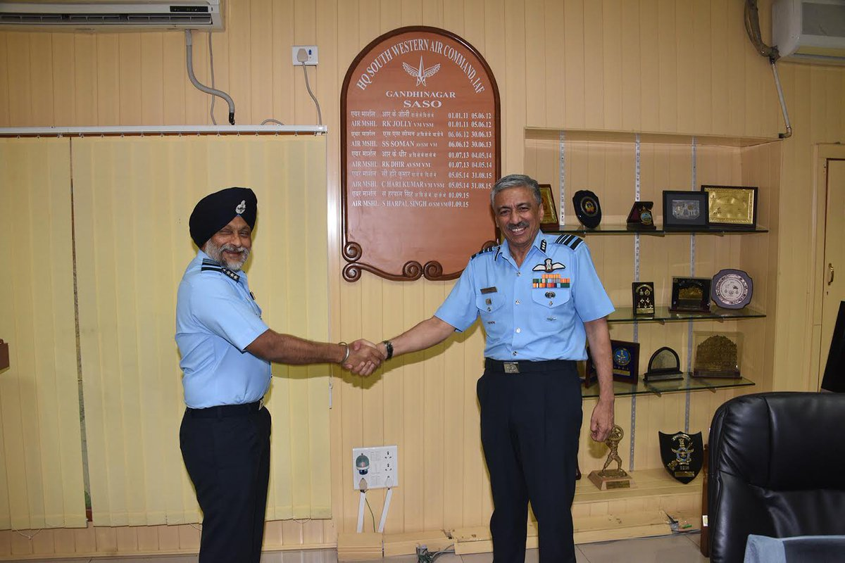 Air Marshal Rawat take over as senior Air Staff Officer of South Western Air Command