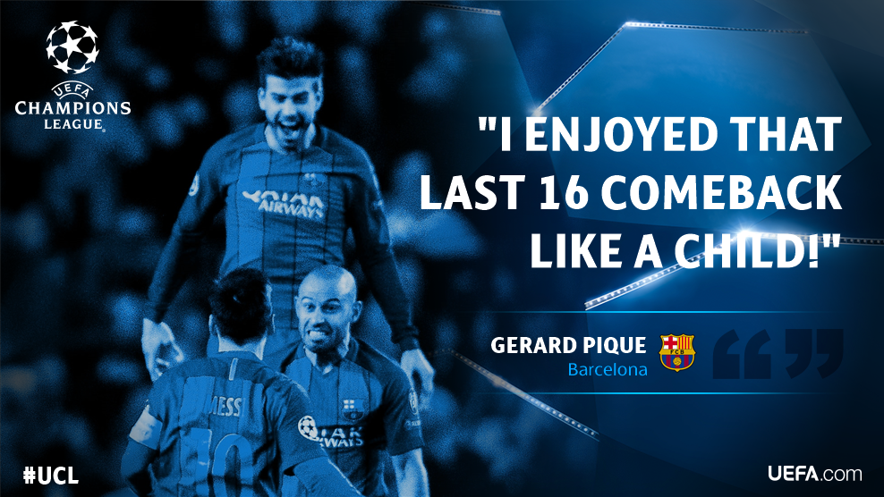 For @3gerardpique there's no forgetting how @FCBarcelona booked their...