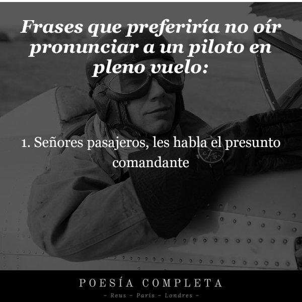 Frases Preferiría Oír Pronunciar Piloto En Pleno Vuelo Por