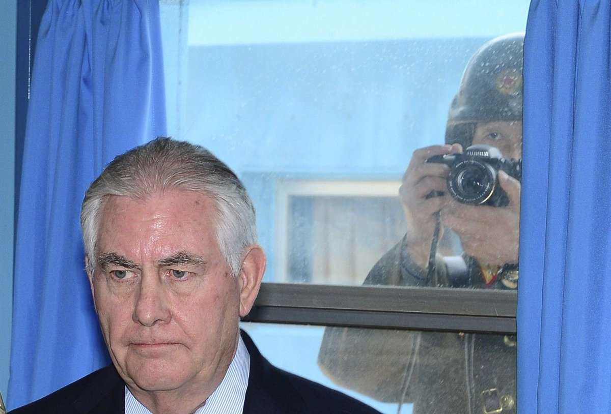 Secretary of State Rex Tillerson says 'all options are on the table' when it comes to North Korea