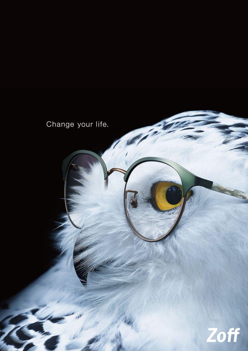 【Change your life.】メガネをかけると、その人の見え方が変わったり、個性が際立ったりしますよね。という新しいクリエイティブ。メガネをかけると、動物たちが人間っぽく見えてくる気がしませんか?? https://t.co/PHcHJnPmtc