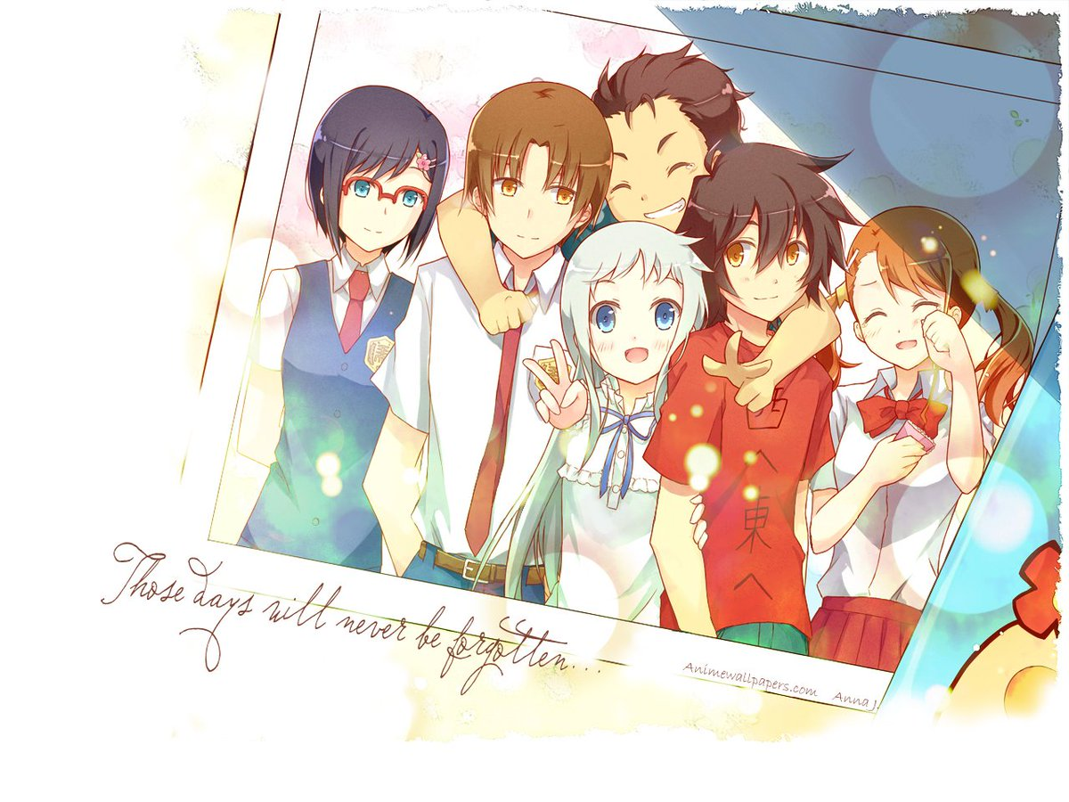 My Anime Chat On Twitter Heres A Good AnoHana Wallpaper To Make You Ride The Feel Train Again