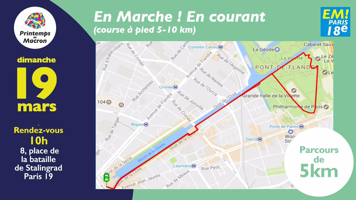 2 parcours : 5 ou 8 km. A vous de choisir ! #Run #running #5km #PrintempsDeMacron <br>http://pic.twitter.com/2hv4nXTfuy