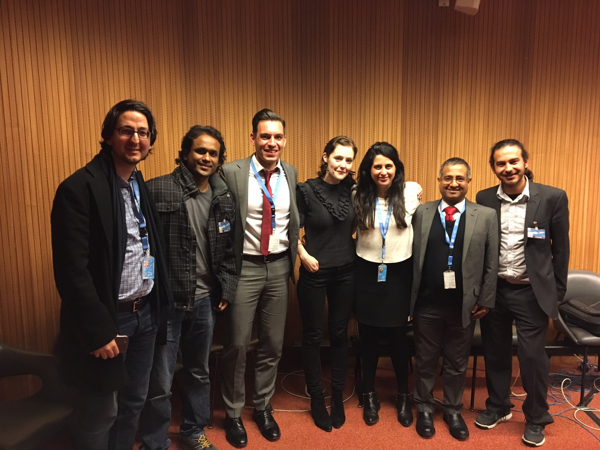 Organizers and speakers at the CFI and IHEU side event.