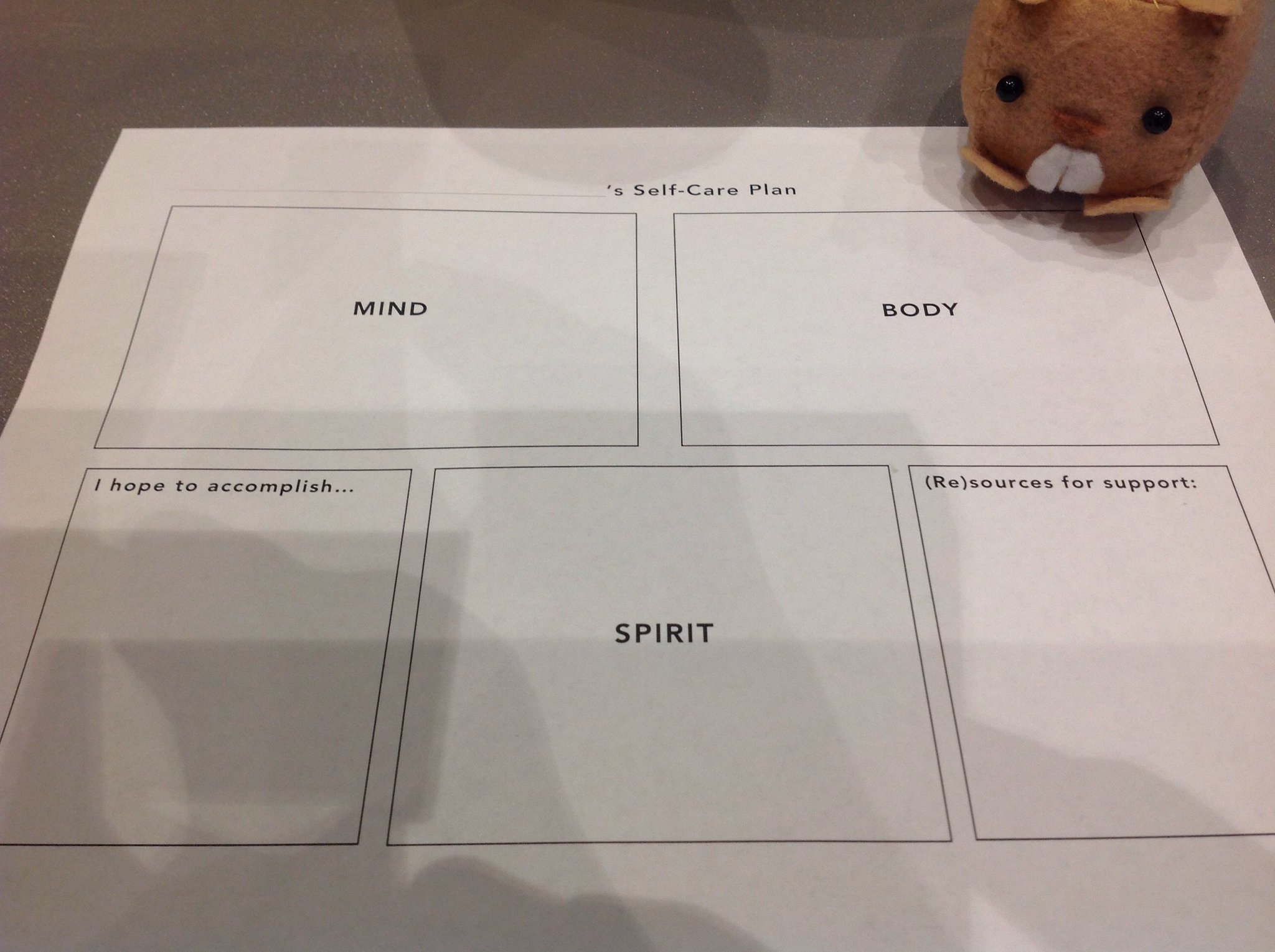 .@ahhitt shares self-care plan used in classes and generated with students to keep self-care in focus #h5 #dis #4C17 https://t.co/STHp1q5VHd