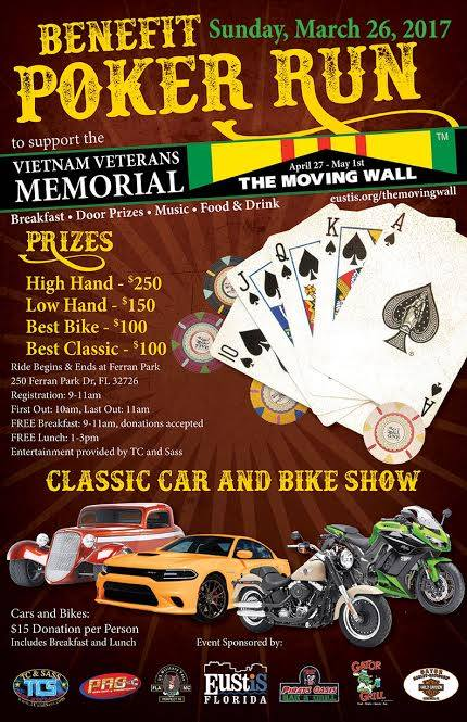 March 26 Run for the Vietnam Moving Wall Eustis FL biker event motorcycle ride