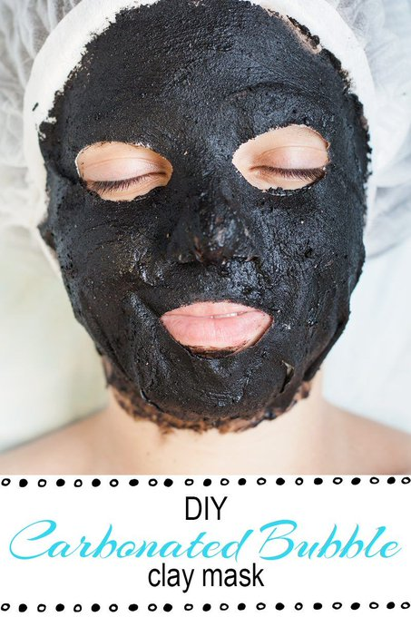 DIY Carbonated Bubble Clay Mask