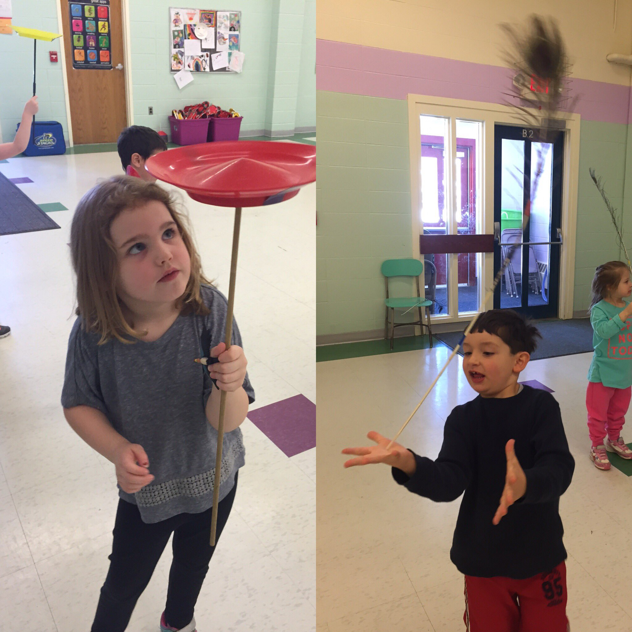 """Mrs. Cowan, watch this!!"", preschool circus fun.@UnderhillID https://t.co/EUeXAOAWP2"