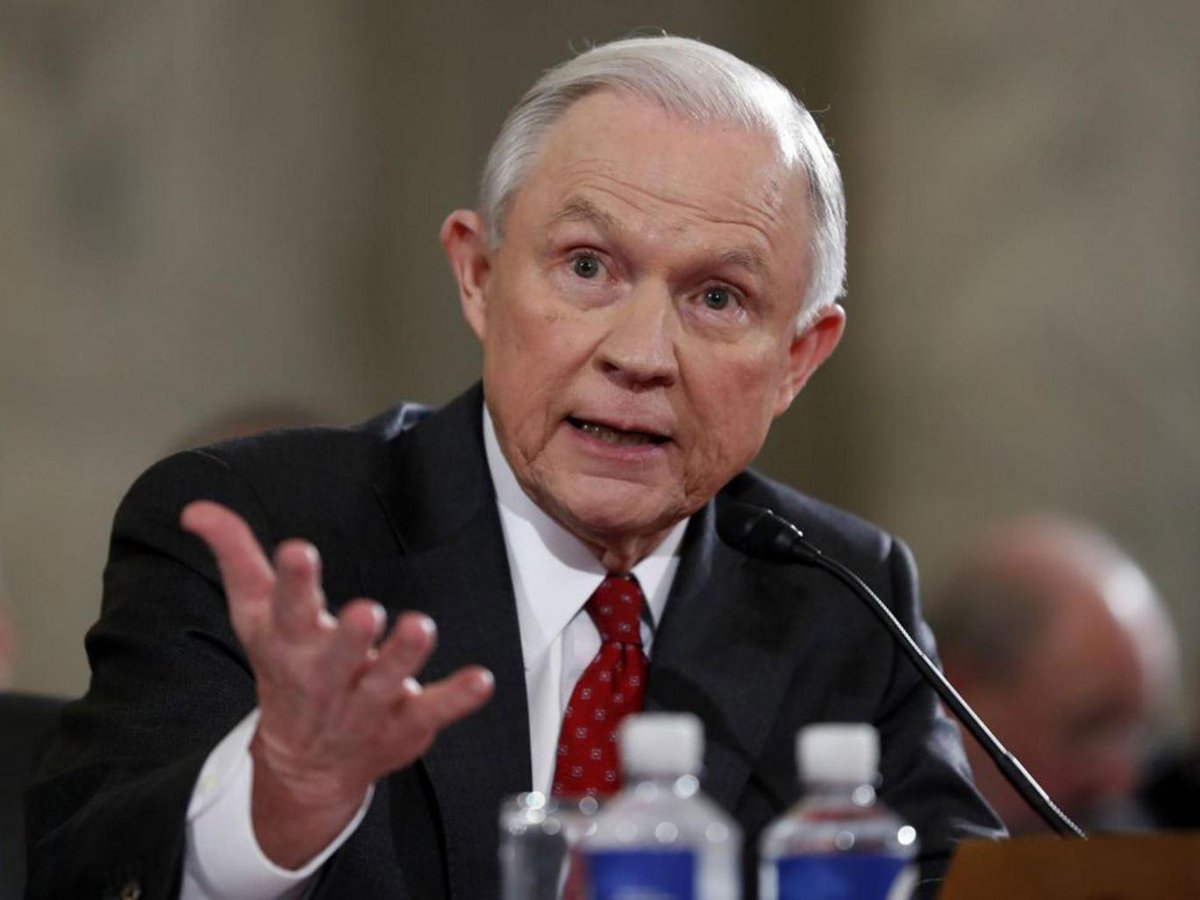 Jeff Sessions describes marijuana as 'only slightly less awful' than heroin