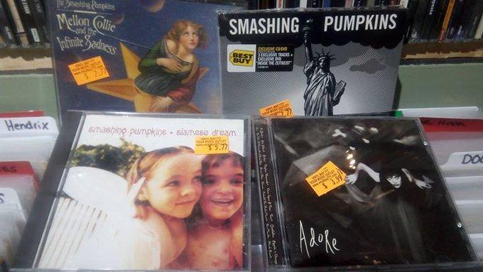 Happy Birthday to Smashing Pumpkins frontman Billy Corgan and former bassist Melissa Auf der Maur!  Find music from