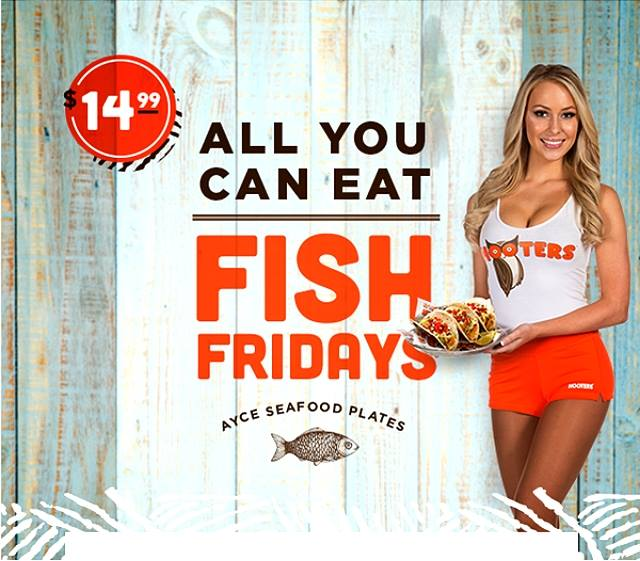 Hooters east hooters63325924 twitter for All you can eat fish