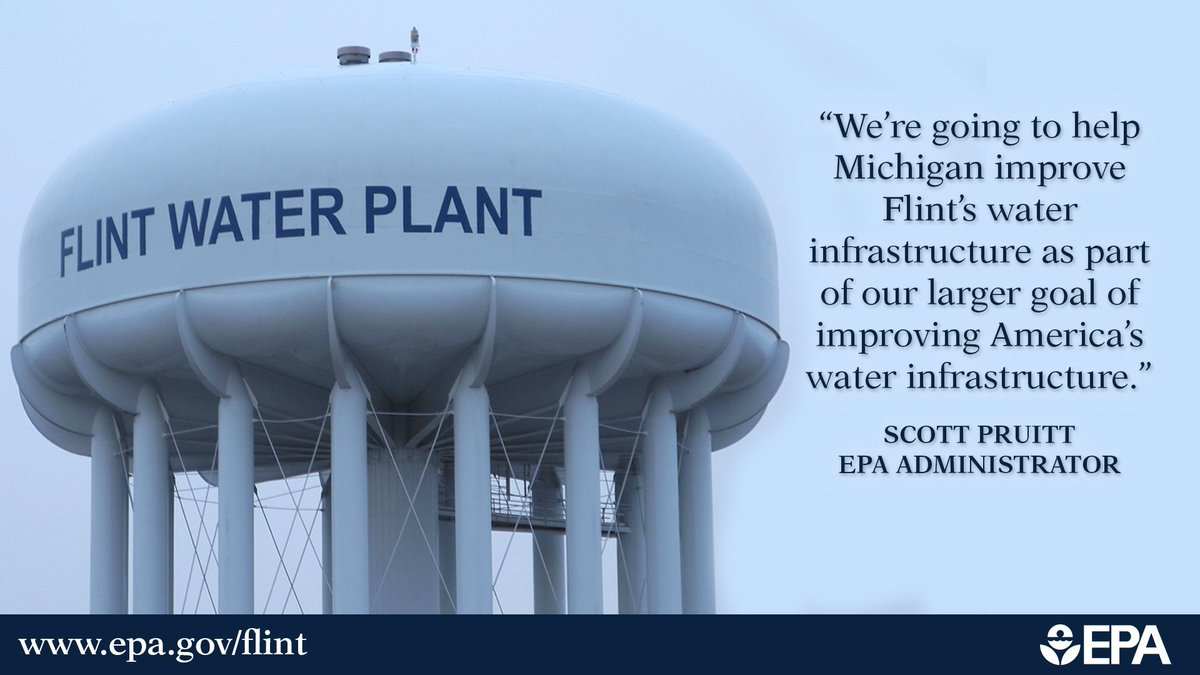 Today we awarded a $100 million grant to @MichiganDEQ to fund drinking water infrastructure upgrades in Flint, MI. https://t.co/B3aQoc0LZn