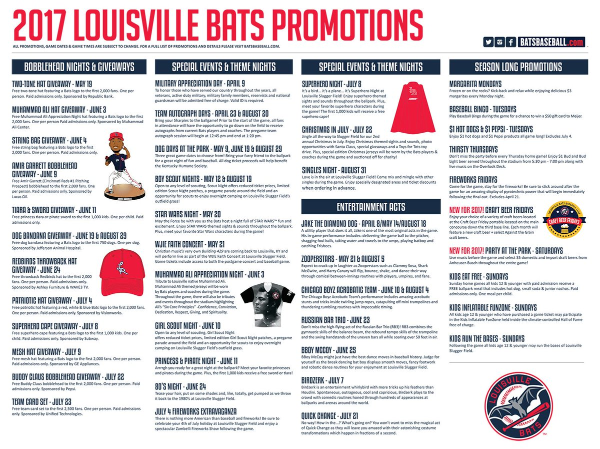 graphic regarding Cincinnati Reds Printable Schedule called Louisville Bats upon Twitter: \