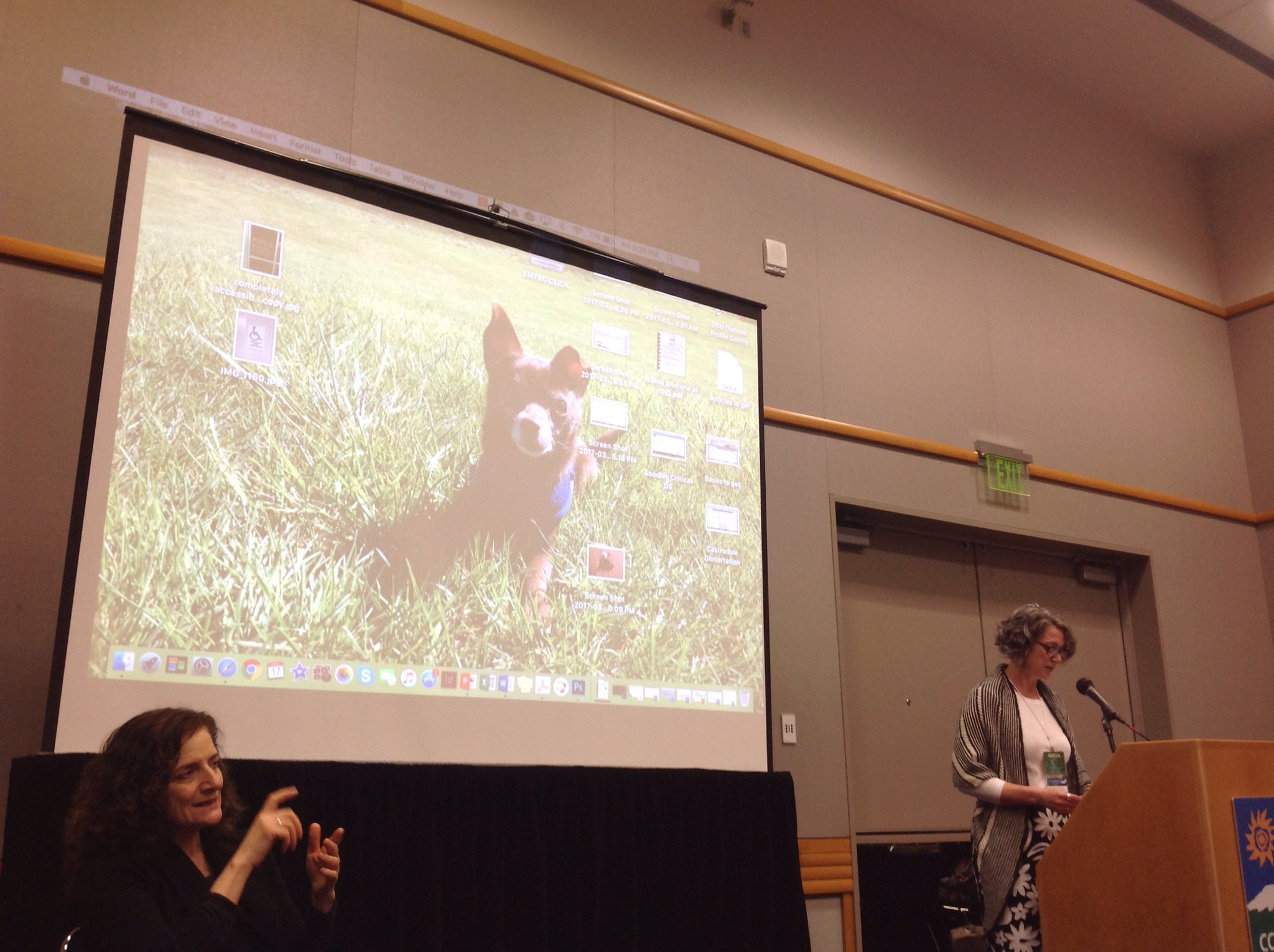 Kicking off #k52 with a cameo from Ivy a la @pricemargaret's open laptop! #dis #4C17 https://t.co/LsM55YET7i