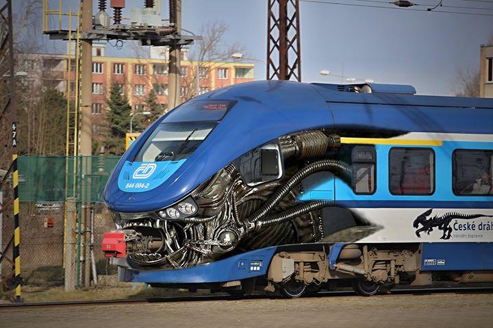 チェコのエイリアン電車