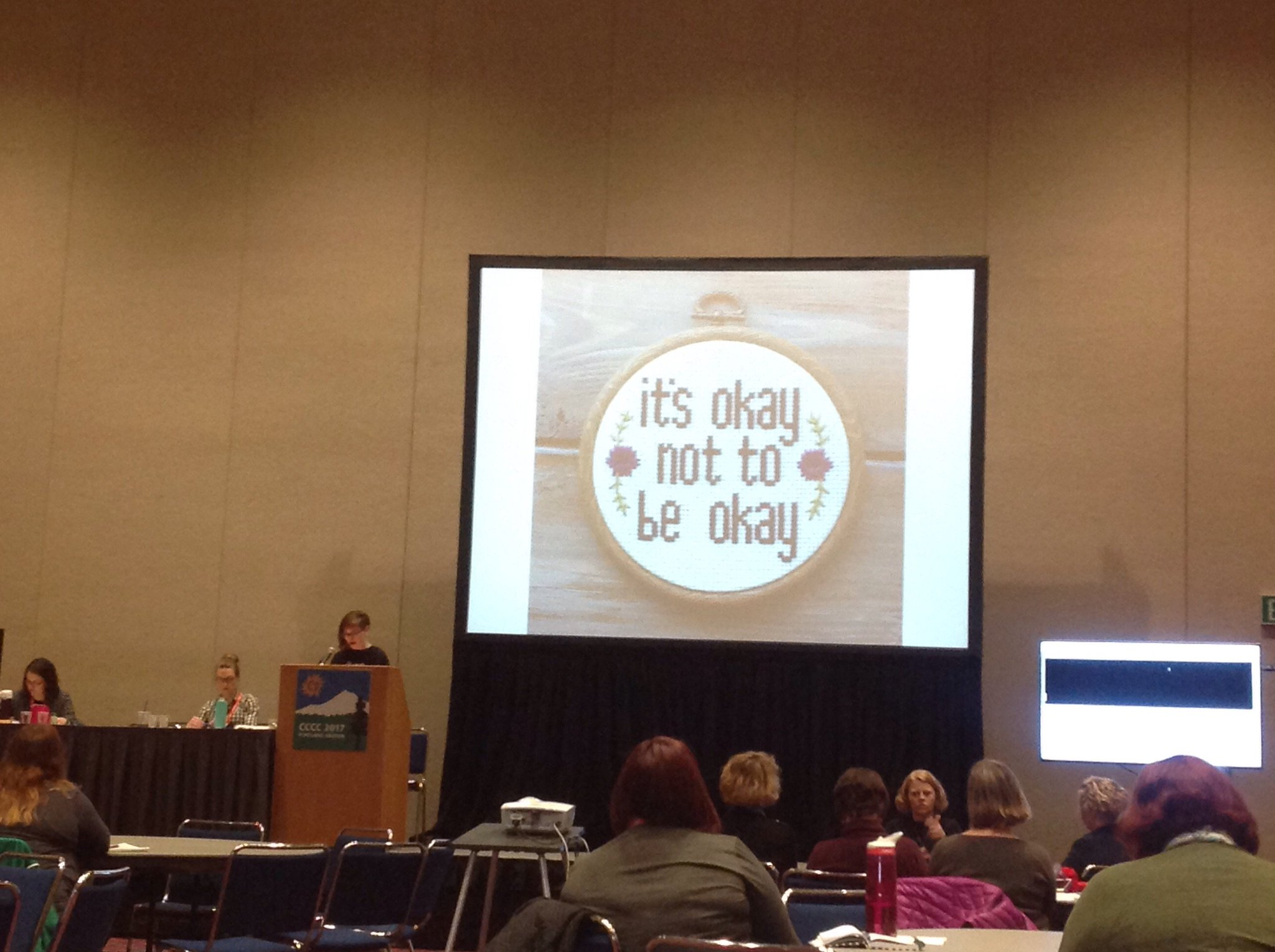 ".@ahhitt shares some cross-stitching that reads ""it's okay not to be okay""  #h5 #dis #4C17 https://t.co/iFsI6sbhsr"