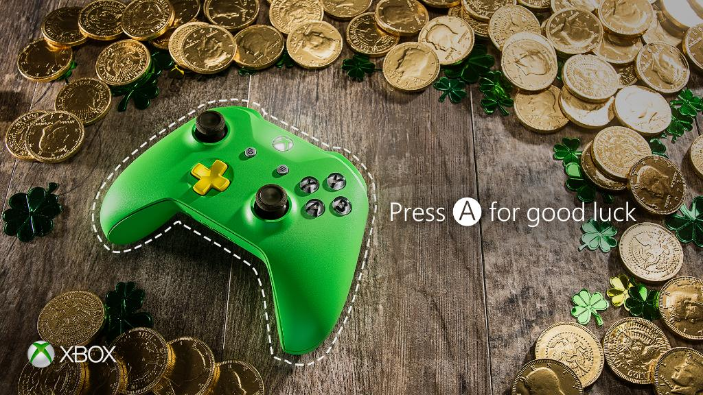 Green? We're always wearing green. #StPatricksDay #XboxDesignLab